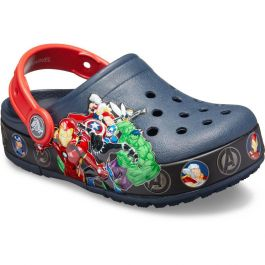 Kids' Crocs Fun Lab Marvel Band Lights Clog