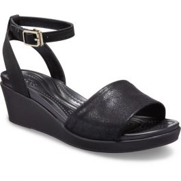 Women's Leigh Ann Shimmer Ankle-Strap Wedge